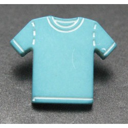 Bouton maillot turquoise 15mm