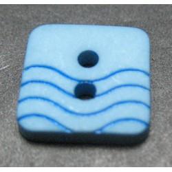 Bouton vague bleu bleu 12mm