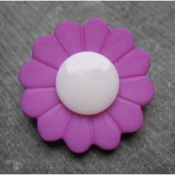 Bouton fleur lilas 36 mm