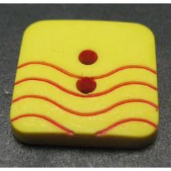 Bouton vague jaune rouge 15mm