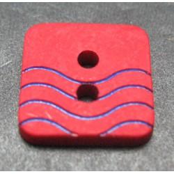 Bouton vague rouge bleu 12mm