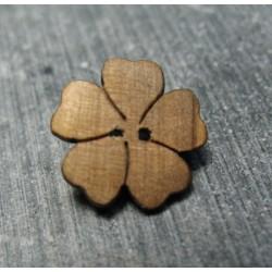 Bouton fleur 5 olivier 15mm