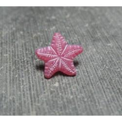 Bouton étoile de mer rose 12mm