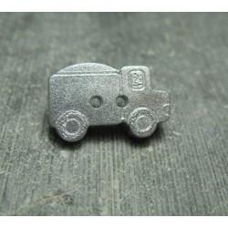 Bouton camion argent 21 mm