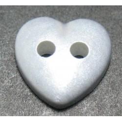 Bouton coeur gris 10mm