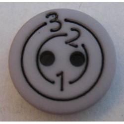Bouton 123 gris 13mm