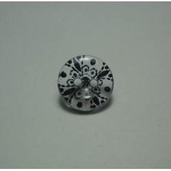 Bouton translucide fleur marine 13mm