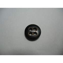 Bouton corne laser noir 15 mm