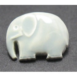 Bouton elephant gris reflet amande 18mm