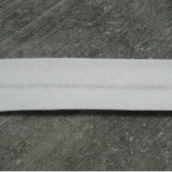 Biais blanc préplié coton 10 mm