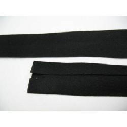 Biais noir préplié coton 10 mm