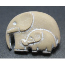 Bouton elephant sable 23mm