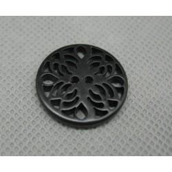 Bouton ciselé noir 22mm