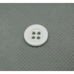 Bouton blanc 4T 13mm