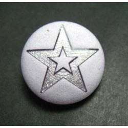 Bouton étoile parme 18mm