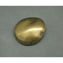 Bouton galet vieil or 36mm