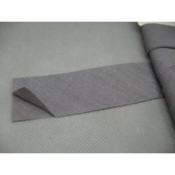 Biais coton semi plié gris souris 27 mm