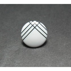 Bouton ligne blanc noir 13mm