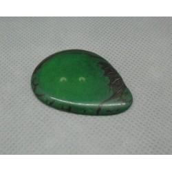 Bouton corozo forme écorce vert 36mm