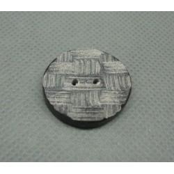 Bouton corne grise 23mm