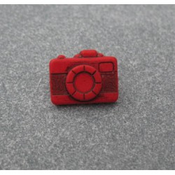 Bouton appareil photo rouge 16mm