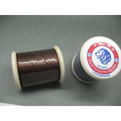 Bobine coton Prima marron roux 250 m