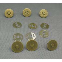3 Aimants vieil or 14mm
