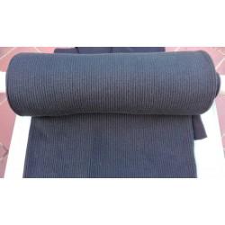 Bord côte tubulaire noir 3mm