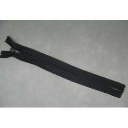 Fermeture éclair nylon noir 20cm