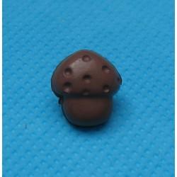 Bouton champignon marron 12mm