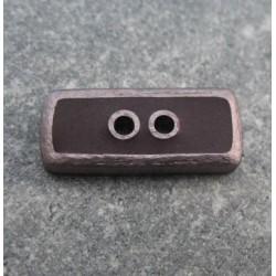 Bouton lingot 49 cuivre marron 25mm