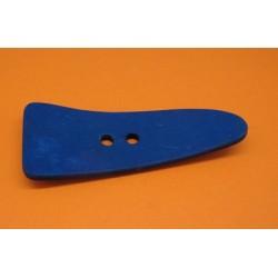 Bouton coco languette bleu roi  70mm