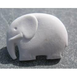 Bouton elephant blanc 25mm
