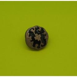 Bouton blason bronze émaillé noir 12mm
