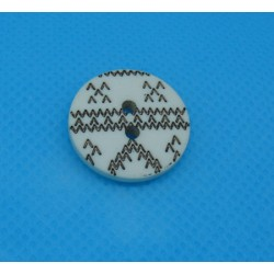 Bouton apache écru noir 19mm