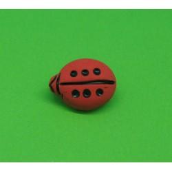 Bouton coccinelle  rouge noir 16mm