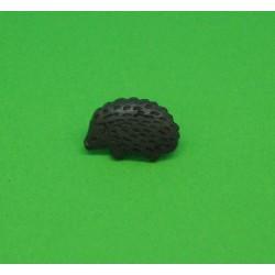 Bouton hérisson marron 15mm