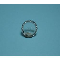 Bouton translucide bord paillette 11mm