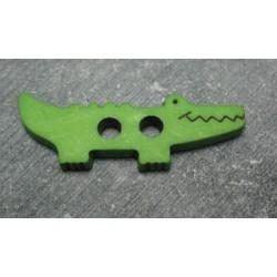 Bouton crocodile vert 45mm