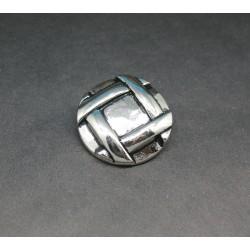Bouton tresse martelée 28mm