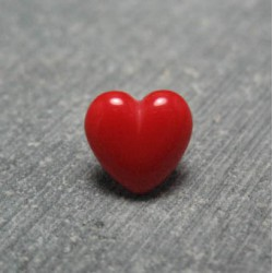 Bouton coeur rouge 9mm