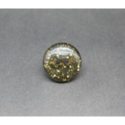 Bouton paillette or 18mm