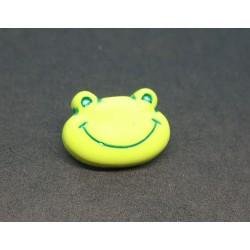 Bouton grenouille verte 18mm