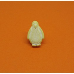 Bouton pingouin jaune 15mm