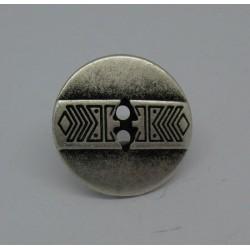 Bouton indien vieil argent 19mm