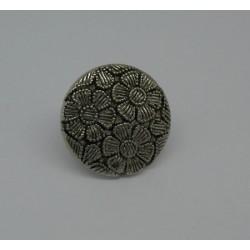 Bouton 3 fleurs métallisé 18mm