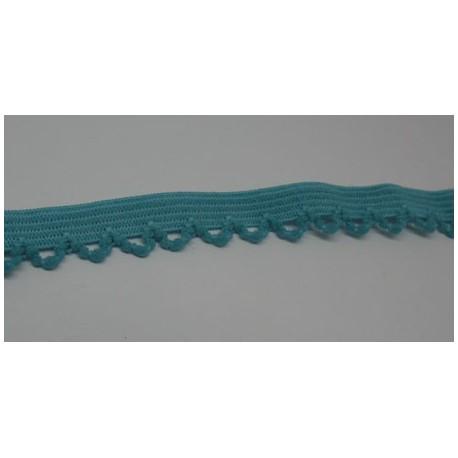 Elastique fantaisie turquoise 10mm