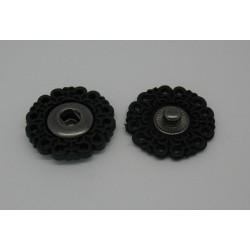 Bouton pression à coudre noir 23mm