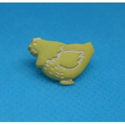 Bouton poule jaune 18mm