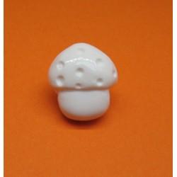 Bouton champignon blanc 15mm
